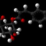 Klorogénsav 3D kémiai képlet