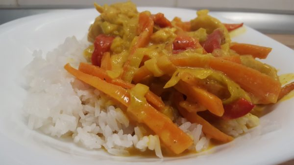 Paleo csirke curry jázminrizzsel