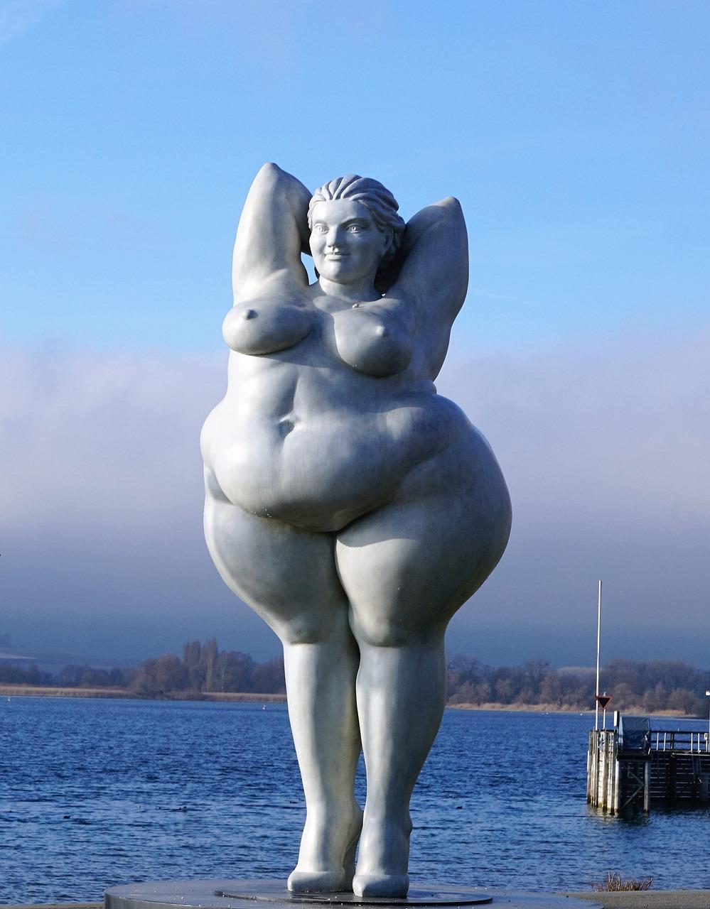 Yolanda szobor Bodeni-tó